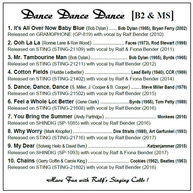 Ralf Bender's (SQUARE DANCE) MUSIC Page